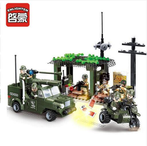 809 285pcs Military Constructor Model Kit Blocks Compatible LEGO Bricks Toys for Boys Girls Children Modeling