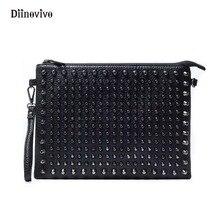 DIINOVIVO-pochettes pour femmes, sac Simple de marque, sac à bandoulière à Rivet Style Rock, sac unisexe, sacs Punk de luxe WHDV0206