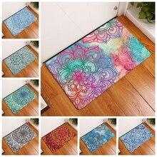 Современный простой стиль, коврики, мандала, цветы, коврики с принтом, противоскользящие, напольный коврик для кухни, гостиной, напольный ко...