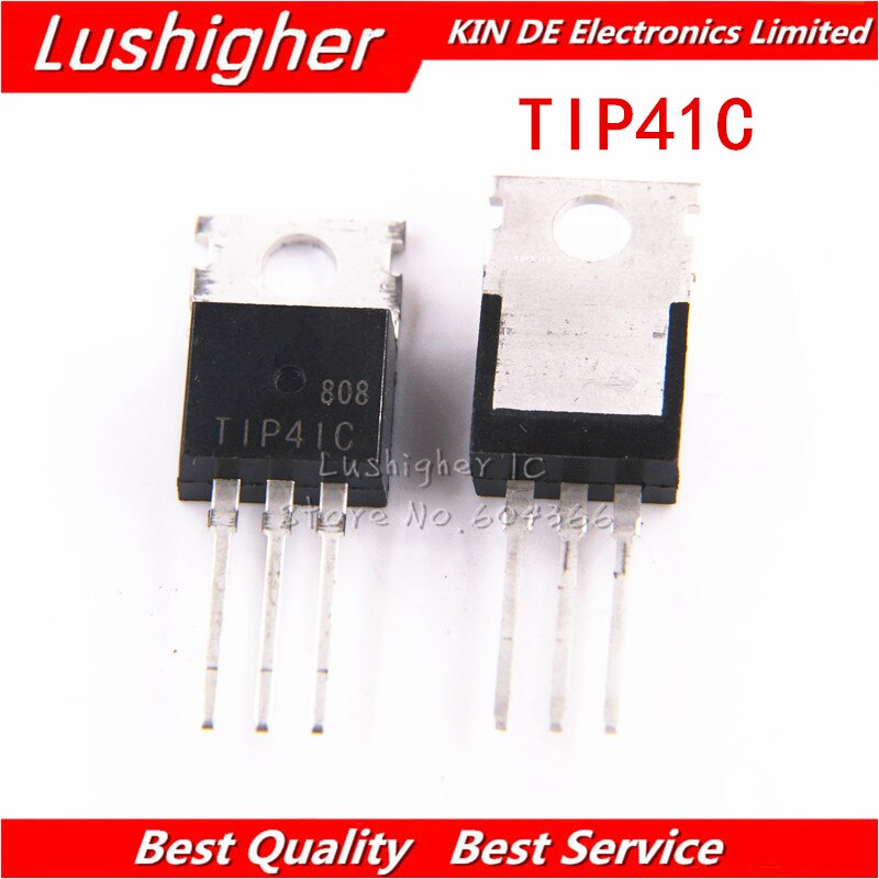 100 piezas TIP41C-220 TIP41 TO220 Transistor NPN nuevo original