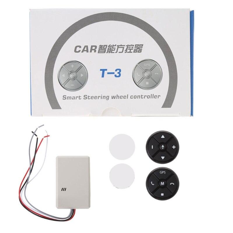 ENTREGA GRATUITA volante Universal para coche DVD GPS Control remoto inalámbrico inteligente Tecla de botón