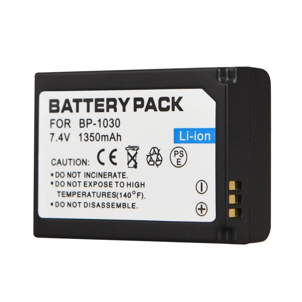 7,4 V 1350mAh BP-1030 BP1030 batería de repuesto para cámara Samsung NX200 batería de batería recargable Digital