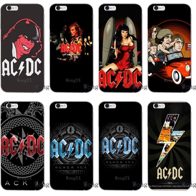 Australian band AC DC logo Slim silicone Soft phone case For Samsung Galaxy S3 S4 S5 S6 S7 edge S8 S9 Plus mini Note 3 4 5 8