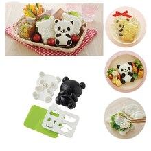 Moule à Sushi pour riz   Moule de Panda de dessin animé, moule à Sushi, Onigiri façonneur et coupeur dalgues grillées sèches, ensemble doutils de cuisine EA 4 pièces/ensemble