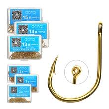 DONQL 50/100 pièces jeu de crochets de pêche crochet de pêche à la mouche en acier au carbone
