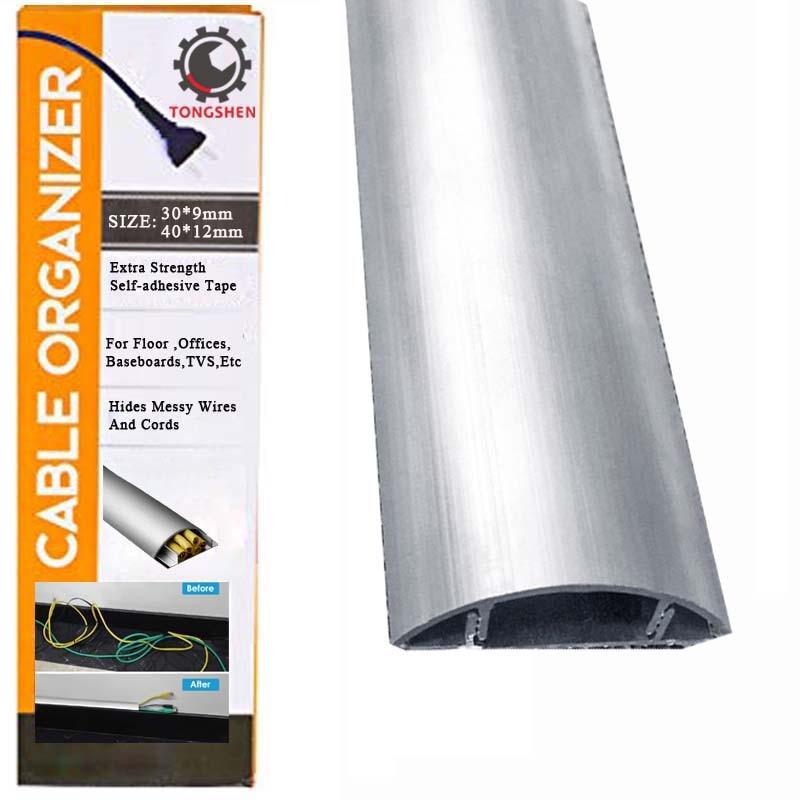 30x9mm Alumimum Boden Rampe Kabel Management Overfloor Schnur Protector Kanal Boden Draht Abdeckung Verbergen Draht zu hause büro Verbergen Kabel