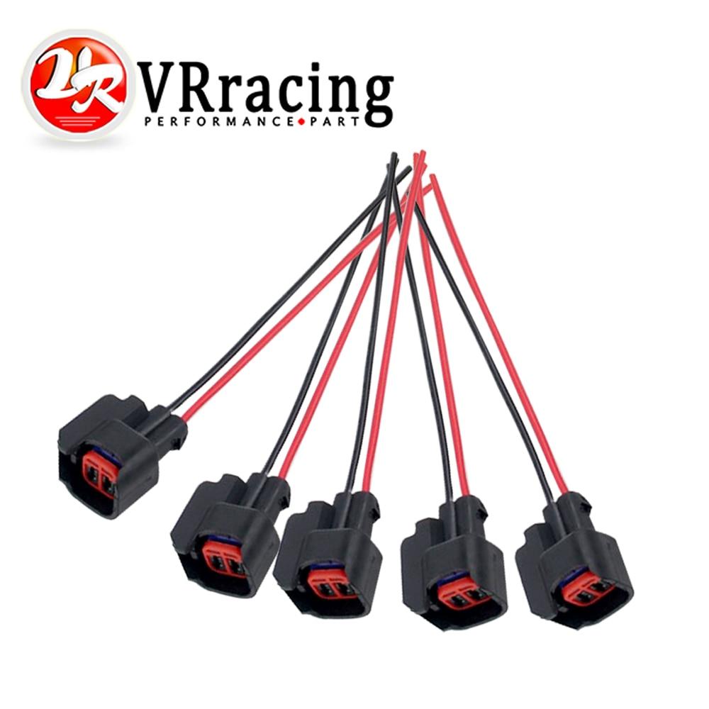 VR - 5 PÇS/SET INJECTOR DINÂMICA EV6 Pigtail Conector Clipe Conectores Para muitos carros EV6 Injector Injector De Combustível Plug FIC13
