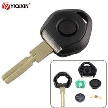 YIQIXIN Old Style Key For Bmw 3 5 7 Z3 E36 E34 E38 E39 Transponder Key Shell Remote Car Key Case 4 Track HU58 With LED Light
