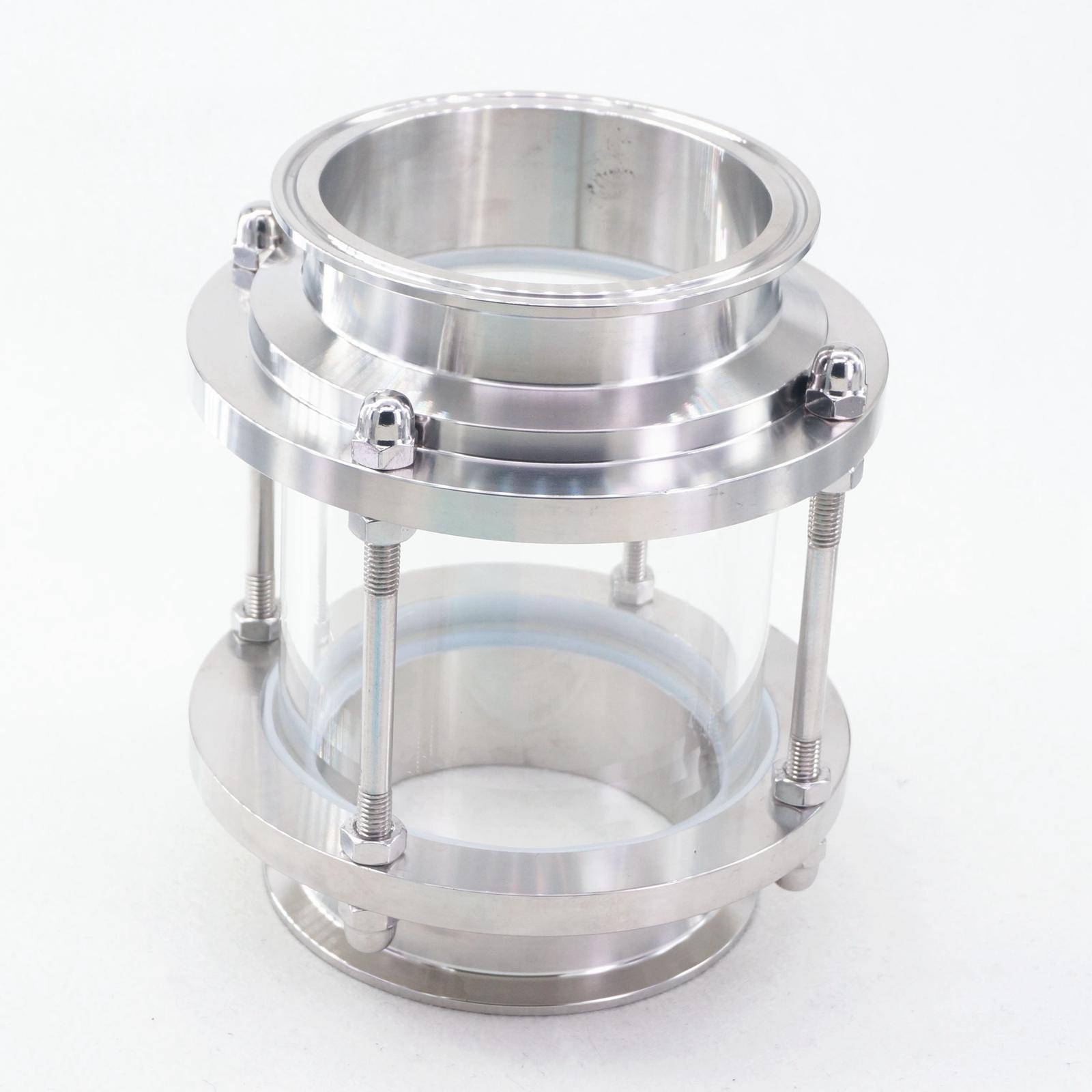 """Ajuste 102mm Tubo OD 4 """"Tri Clamp SS304 Vista de flujo sanitario Dipoter Homebrew"""