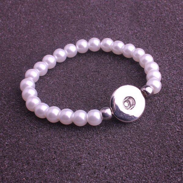 wholesale 12pcs/lot  wholesale fashion Women Snap socket rhinestone pearl button Charm Diy Snaps Style Bracelet jewelry