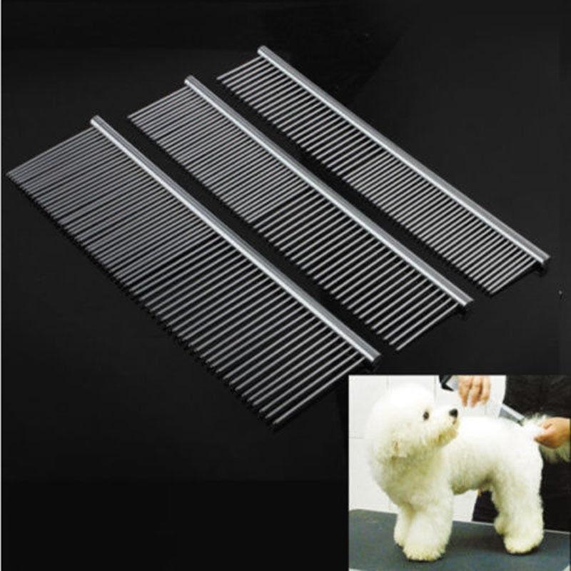 Useful Pet Dog Cat Metal Double Row Teeth Brush Grooming hair Comb Rake Tool
