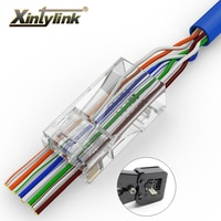 xintylink EZ rj45 connector cat6 rg rj 45 utp ethernet cable plug rg45 cat5e 8P8C cat 6 lan network modular cat5 jack 20/50/100