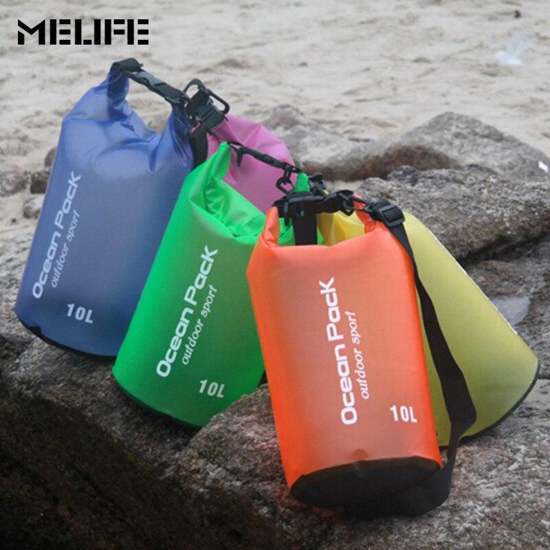 Bolsa impermeable MELIFE para natación en el océano, bolsa de buceo flotante ligera duradera al aire libre, bolsa seca de almacenamiento de PVC 2 5 10 15 l para viaje