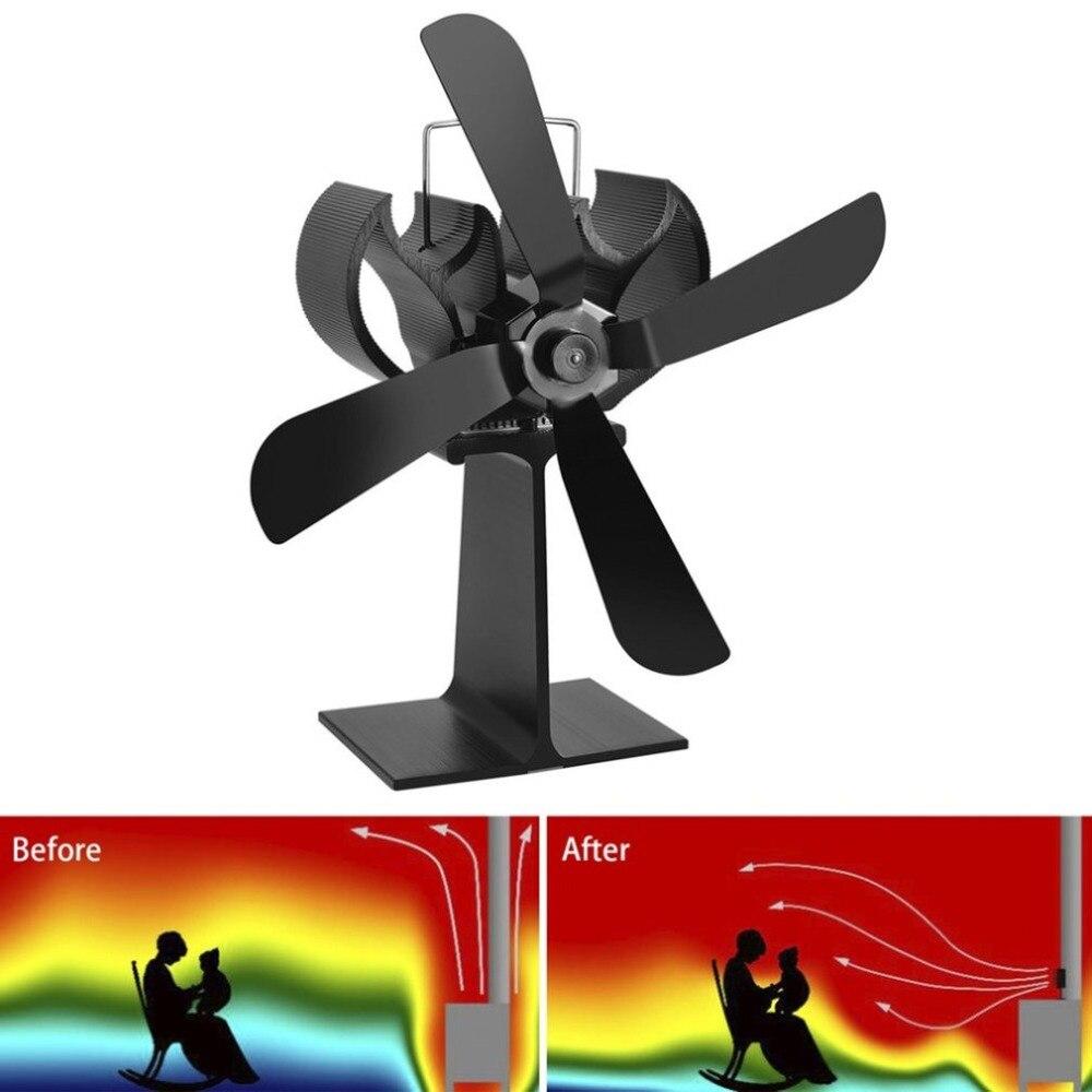 4 лезвия тепловая мощность камин Печь вентилятор ed деревянная плита для