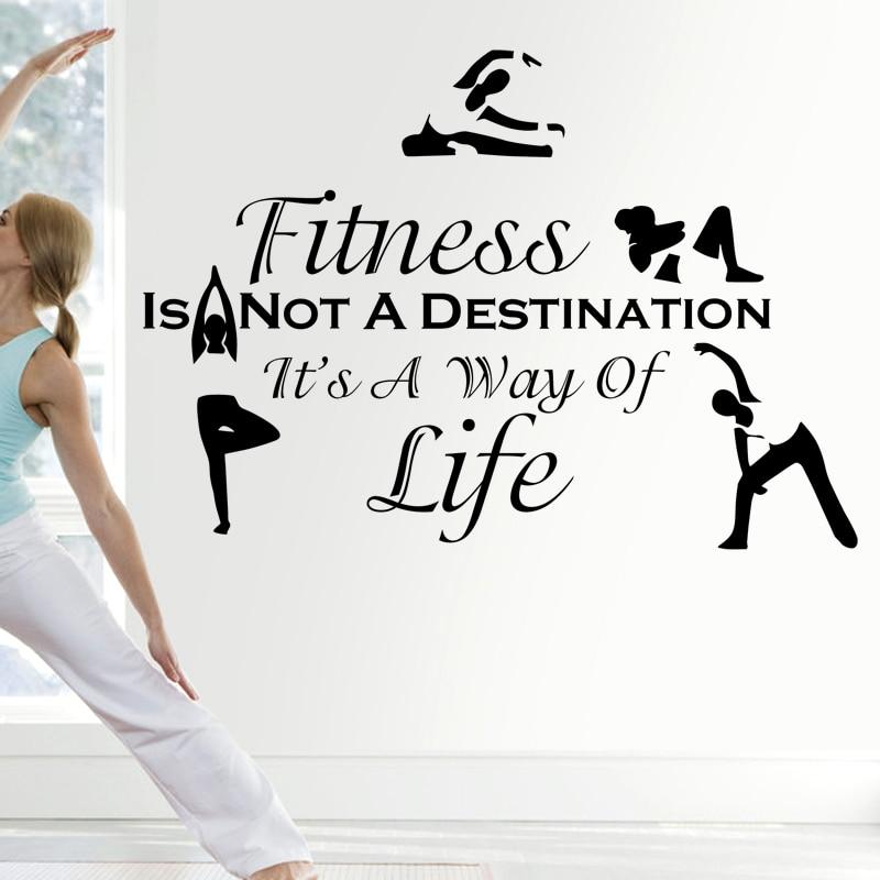 Yoga Fitness Club etiqueta adhesiva gimnasio decoración carteles vinilo decoración calcomanías de pared decoración Mural coche gimnasio pegatina