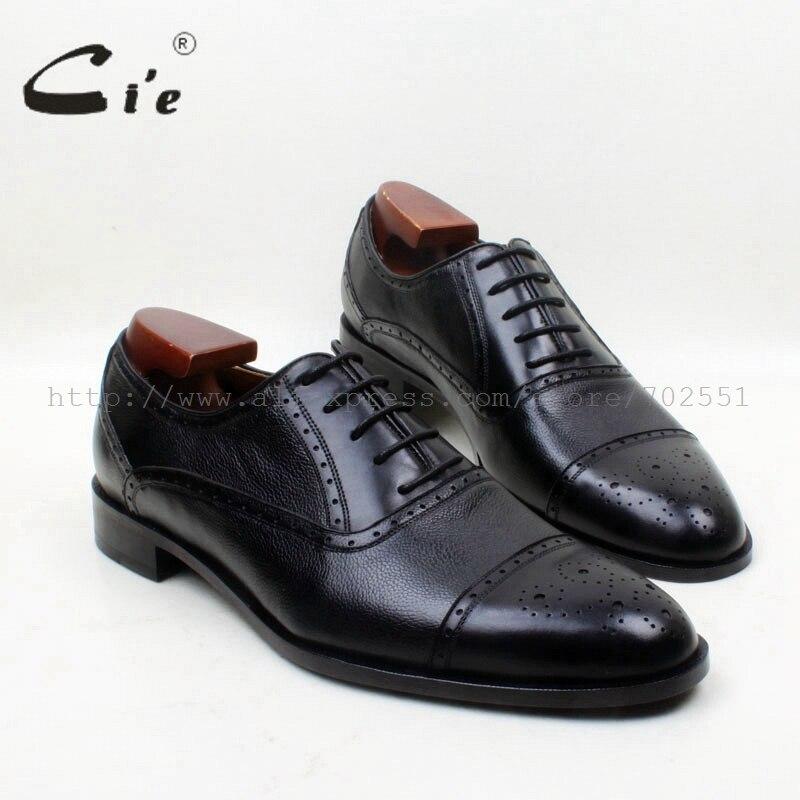 Мужские оксфорды ручной работы cie, Классические однотонные черные туфли из натуральной телячьей кожи, с круглым носком, смешанные цвета, OX684