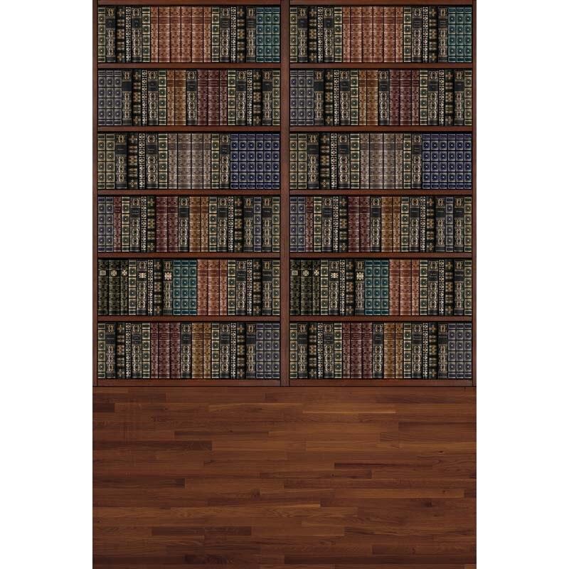Temporada de graduación vinilo fino fotografía Vintage libro estante telón de fondo-libro caja tienda de libros impreso fondo de tela