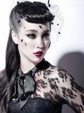 Pince à cheveux en dentelle noire, accessoires gothique   Filet pour course de bal mariage, nœud papillon Fascinator
