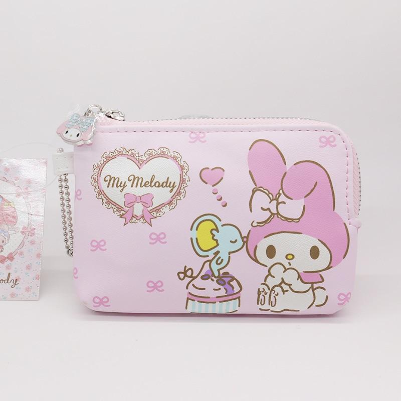 1 pc nouveau japon ma mélodie sacs à main en cuir synthétique polyuréthane femmes Mini portefeuilles sacs à fermeture éclair pour les filles cadeaux