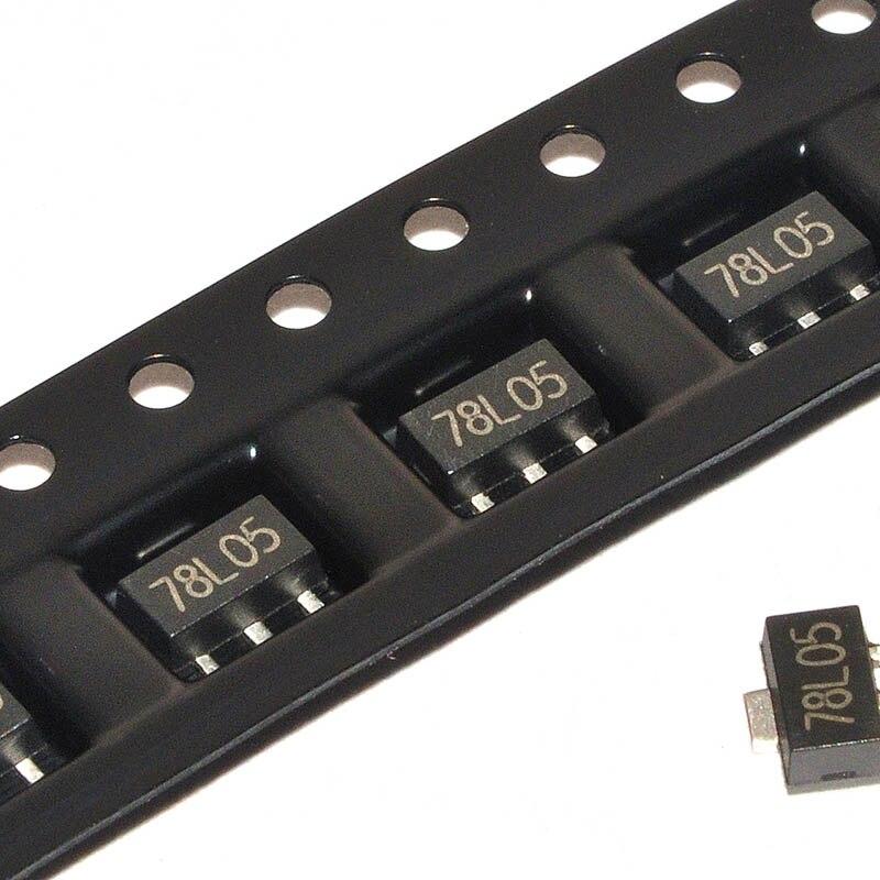 Regulador 200 unids/lote 78L05 SOT89 5,0 V 0,1 a positivo nuevo original