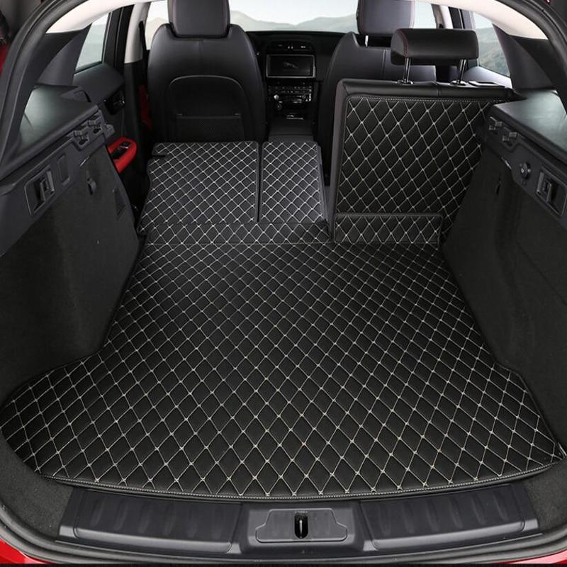 For Jaguar F-PACE 3PCS Car Auto Special Trunk Mats Durable Boot Carpets Car Styling Accessories Interior Floor Mats