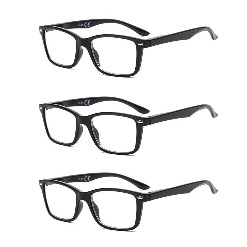 SUERTREE gafas de lectura ultraligero HD dioptrías lente presbiópica gafas de ordenador comodidad para hombres y mujeres BM151 (x3pc)