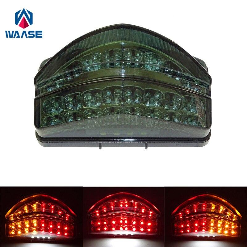 Waase для Honda CBR600F4i CBR 600 F4i 2001 2002 2003 хромированный задний фонарь, стоп-сигнал, встроенная светодиодная подсветка