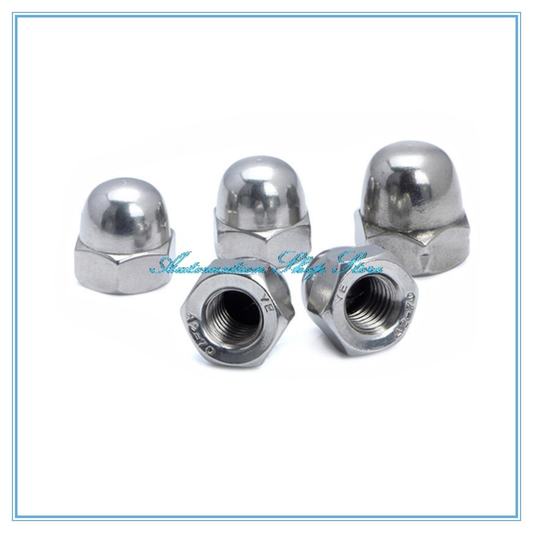 10pcs/lot Metric thread M3 M4 M5 M6 M8 304 Stainless Steel Cap Nuts