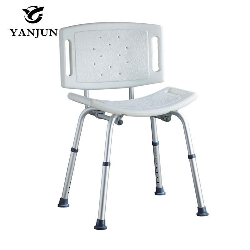 YANJUN Adjustable Aluminium Height Bath and Shower Seat Shower Bench Bathroom Safety Shower ChairTub Bench Chair YJ-2051B