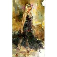 5D DIY diament haft taniec dziewczyna naklejki pełne placu diament malarstwo Cross Stitch obraz Rhinestone mozaika malowanie