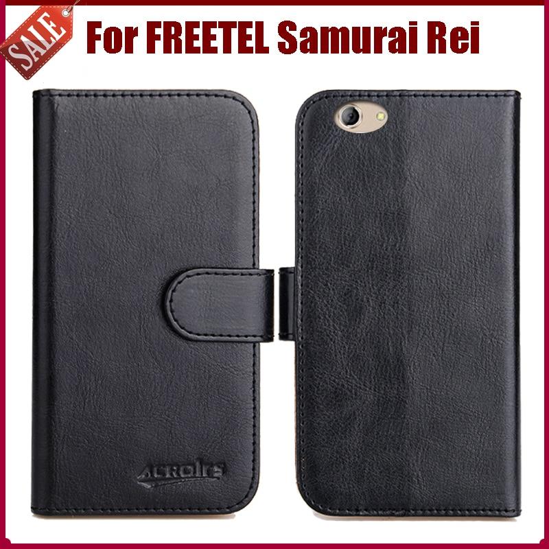 Hot Sale! FREETEL Samurai Rei Case New Arrival 6 Colors High Quality Flip Leather Protective Cover Case Phone Bag