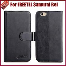 Offre spéciale! FREETEL samouraï Rei étui nouveauté 6 couleurs haute qualité Flip cuir housse de protection téléphone sac