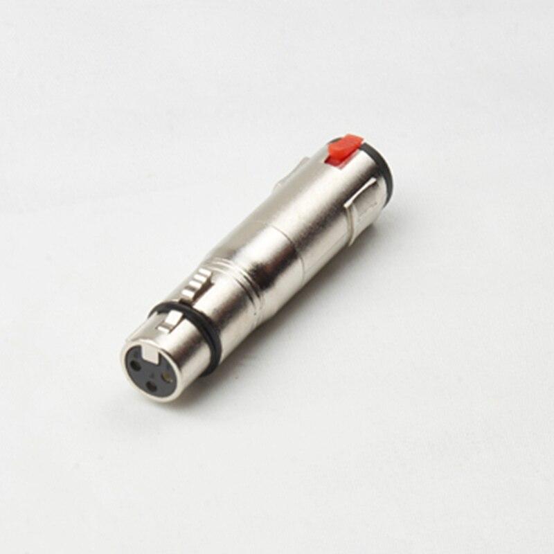 10 قطعة/الوحدة 3Pin XLR fmale إلى 6.35 مللي متر ستيريو أنثى الصوت محول موصل xlr الإناث إلى 6.35 مللي متر الإناث الصوت connecotr