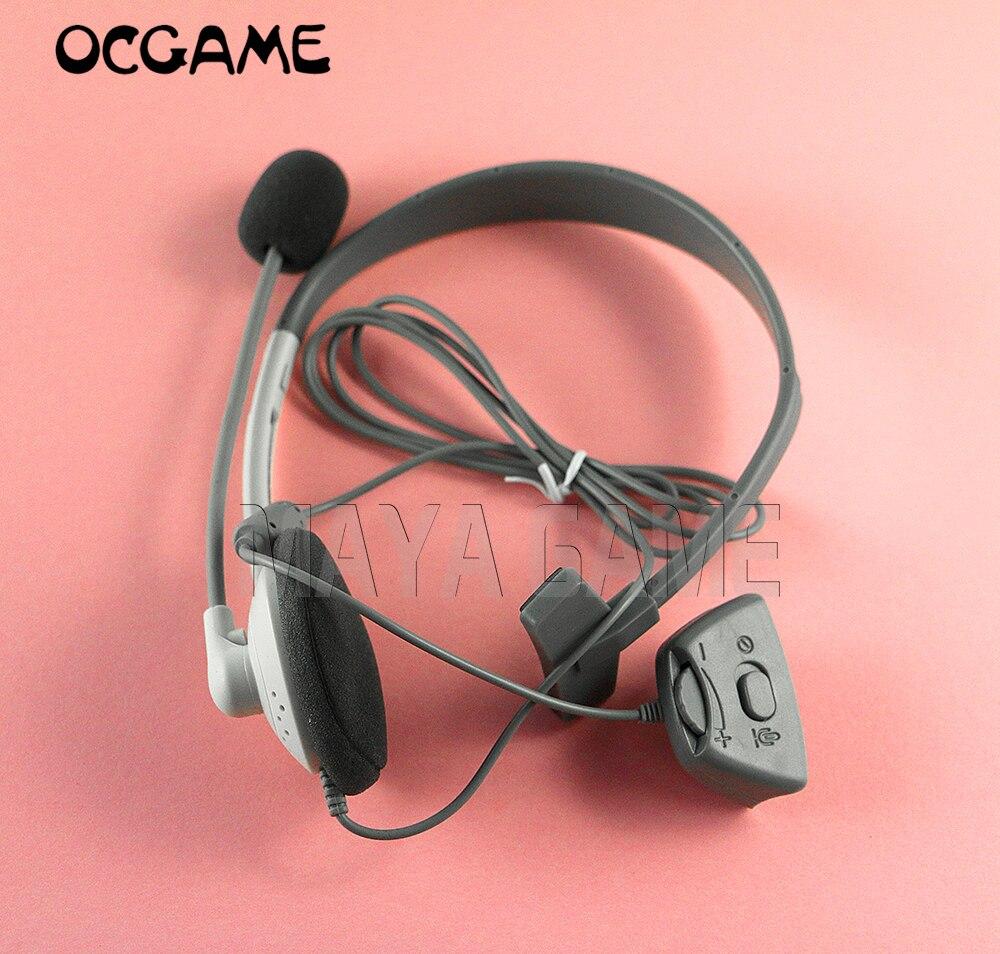 OCGAME 10 unids/lote blanco nuevo auricular con micrófono para Xbox360 xbox 360 controlador inalámbrico auricular en vivo