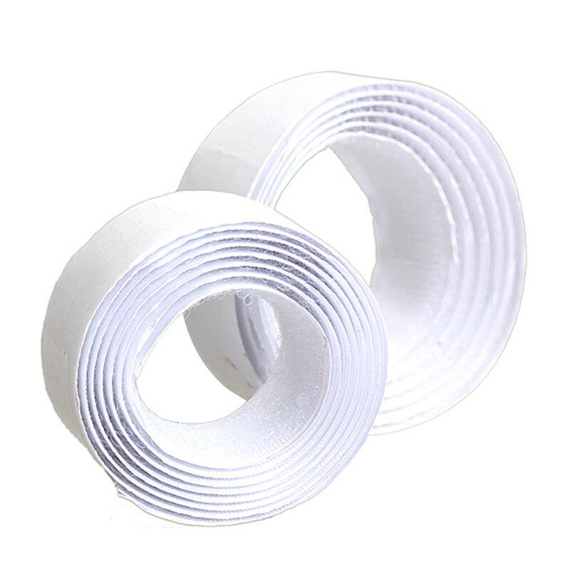 As tiras adesivas pretas e brancas do gancho e do laço da largura de 20mm ajustam-se com o prendedor pegajoso super da tela de náilon da colagem