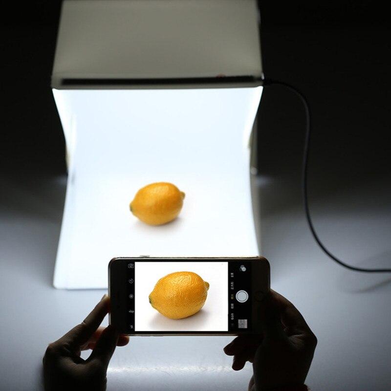 Portátil estudio de fotografía Longet Mini plegable caja iluminada para fotografía estudio foto fotografía de la tienda con luz LED y de fondo