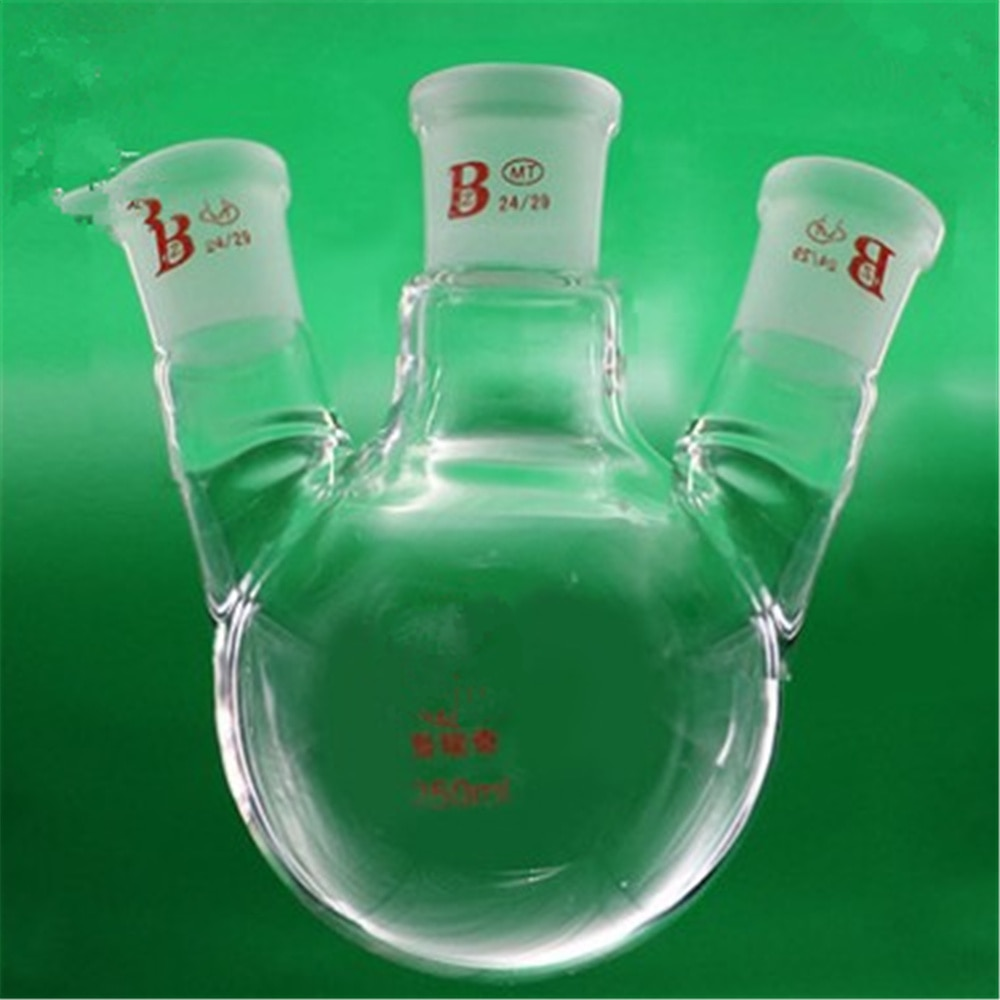 250ml,24/29*3,3-neck,Round bottom bevel connect Glass flask,Lab Boiling Flasks,Three neck laboratory glassware 1pc 100ml 24 29 1 neck round bottom glass flask single neck lab boiling bottle