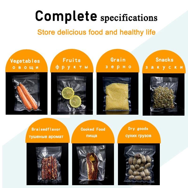 saengQ  LIFE Kitchen Food Vacuum Bag Storage Bags For Vacuum Sealer Food Fresh Long Keeping 12+15+20+25+30cm*500cm Rolls/Lot