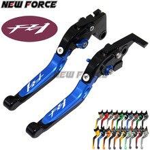 Logo FZ1 bleu réglable leviers dembrayage de frein de moto pour Yamaha FZ1 FAZER 2006 2007 2008 2009 2010 2011 2012 2013 2014 2015