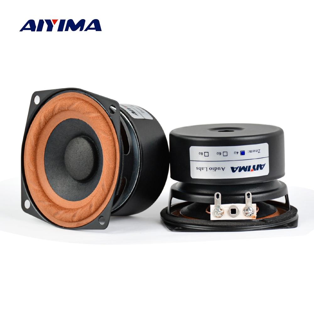 AIYIMA 2Pcs 2,5 zoll Audio Tragbare Lautsprecher 4 ohm 8Ohm 15W Vollständige Palette Hifi Bass Lautsprecher DIY Für heimkino