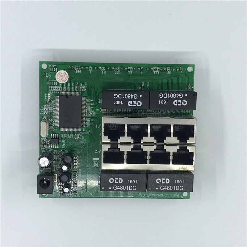 Фото OEM PBC 8 портовый гигабитный Ethernet коммутатор с контактным разъемом 10/100/1000 м