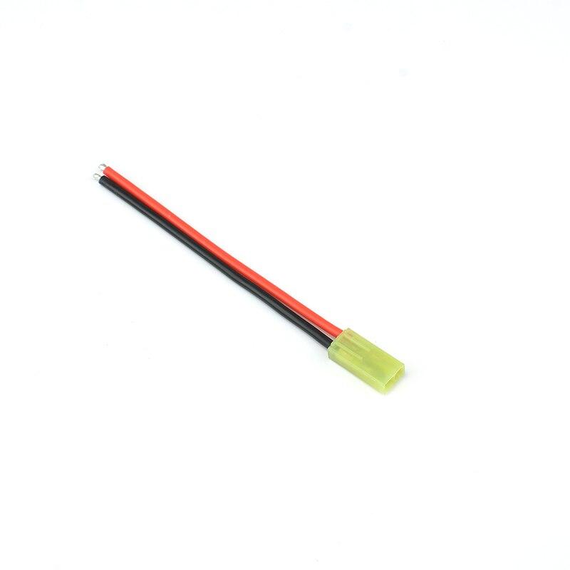 2 piezas o 3 piezas pequeño TAMIYA redondo rojo cuadrado negro conector de enchufe 10 CM pequeño TAMIYA conector de batería con de cable AWG