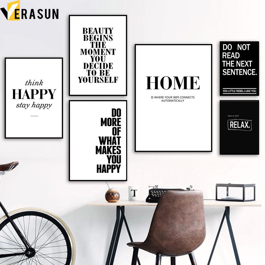 FAZER Em Casa Citações Inspiradoras Cartazes E Impressões Pintura da Lona Arte Da Parede Minimalista Nordic Parede Pictures For Living Room Decor