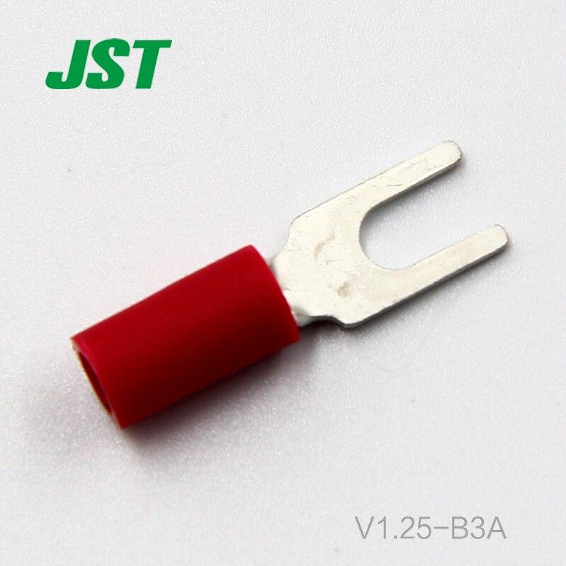 100 قطعة جديد JST موصل الخام بقعة البرد ضغط حلقة واحدة محطة V1.25-B3A