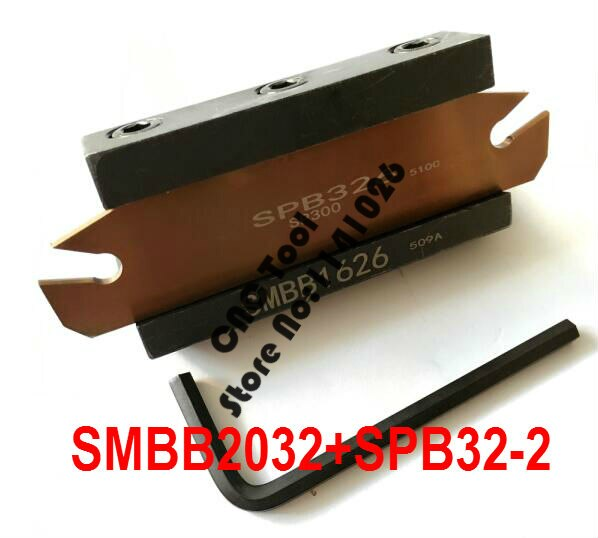 التوصيل المجاني من SPB32-2 NC القاطع بار و SMBB2032 CNC برج مجموعة مخرطة آلة قطع أداة حامل حامل ل SP200