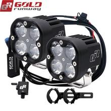 Goldrunway دراجة نارية الأضواء العلوي كشافات GR-X4 XPL 40 واط Led إطارات دراجة تسلق الجبال خفيفة الوزن Dc12V العالمي موتوكروس مساعدة ضوء