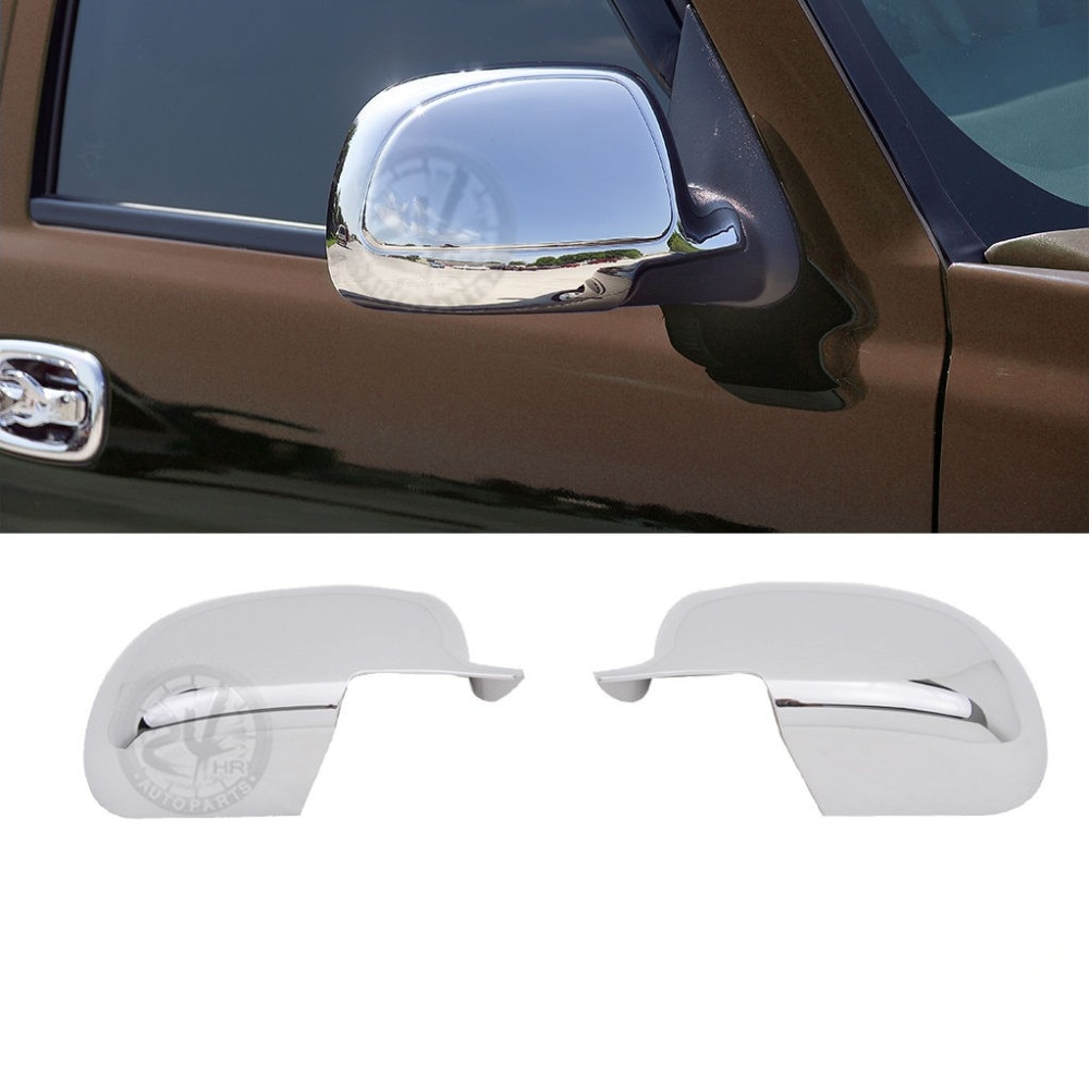 Triplo cromado abs espelho capa para 99-06 chevy silverado/02-06 para chevrolet avalanche/00-06 tahoe suburban 1500