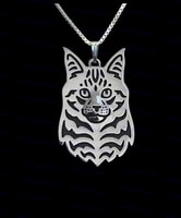cute cartoon maine coon cat necklace new fashion animal cat jewelry for women 12pcslot