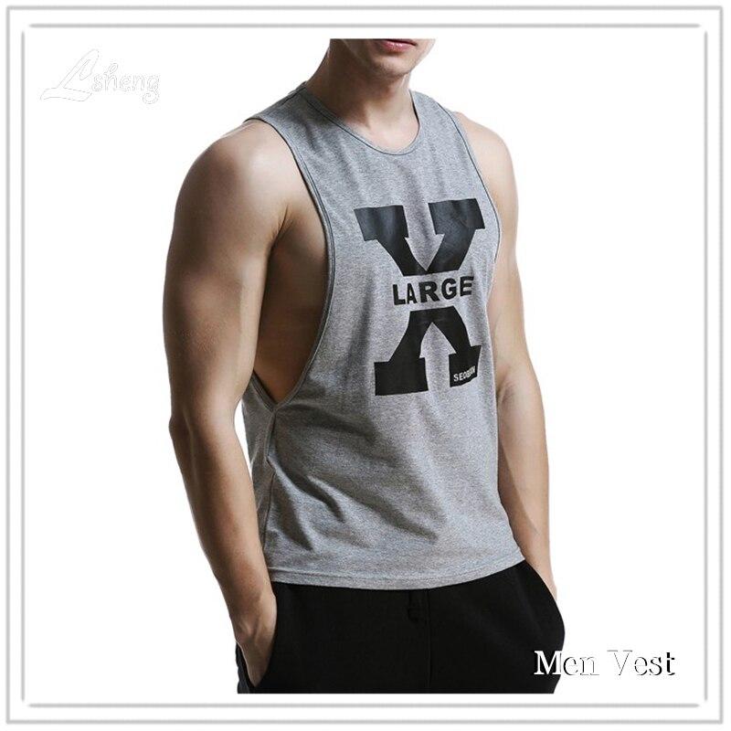 الرجال تانك الأعلى Singlets المراسلين أكمام أعلى المحملات قمصان القطن الهيب هوب العلامة التجارية تي شيرت رجل Gasp تانك قميص العضلات عارضة سترة