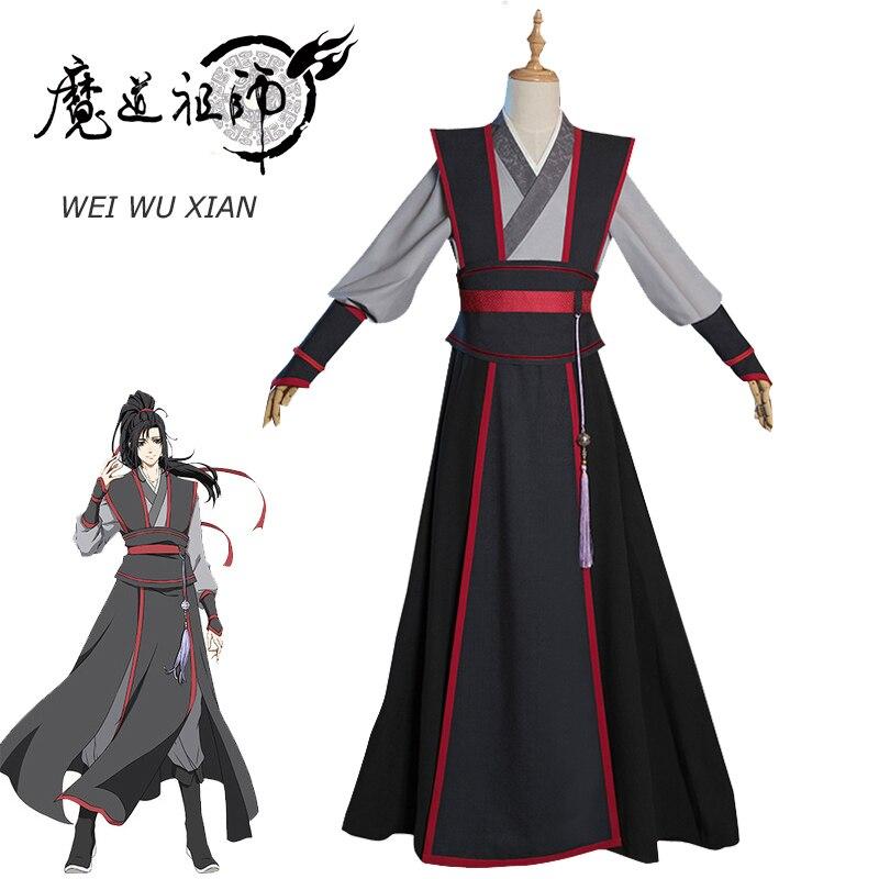 Eraspooky Mo Dao Zu Shi Cosplay Wei Wuxian joven gran maestro de demoníaco cultivo traje hombres Anime Wei wuxian peluca zapatos flauta